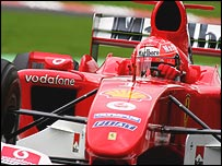Michael Schumacher at the 2004 Belgian Grand Prix