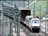Eurotunnel shuttle train