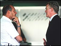 McLaren boss Ron Dennis and FIA president Max Mosley
