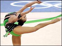 Alina Kabaeva in action