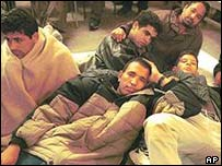 Illegal immigrants on hunger strike in Spain, 2001