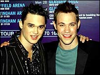 Pop Idol's Gareth Gates (left) and Will Young