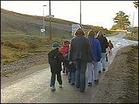 Pupils at rural school