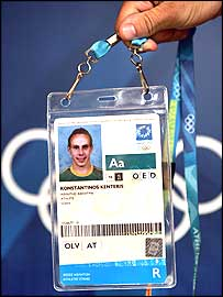 Kostas Kenteris had his Olympic pass confiscated