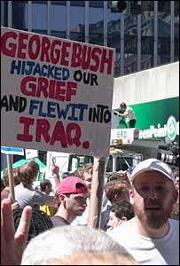 Anti-Bush protesters