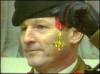Colonel Collins pictured after receiving his OBE