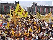 Marcha a favor de Andrés Manuel López Obrador, alcalde de la Ciudad de México