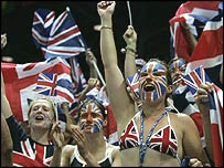 British fans at the Olympics in Athens