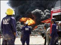 Sabotaged Iraqi oil pipeline