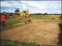 Excavation work at Foxrush Farm