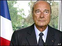 Jacques Chirac, presidente de Francia.