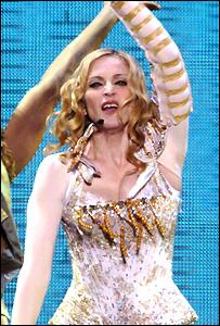Madonna was warmly received at Slane Castle