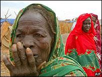 Refugiadas en Darfur.