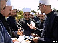 Members of the Druze community outside Israel's supreme court