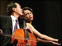 Condoleezza Rice (right) and Yo Yo Ma