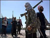 Iraqi gunmen in Falluja
