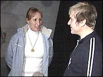 Karen and Simon were reunited in Belfast