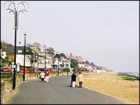 Felixstowe beachfront