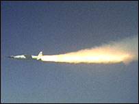 X-43A and booster rocket (Nasa)