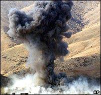 US warplane strike in Afghanistan