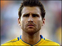 Swedish international defender Andreas Jakobsson