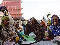 Khat sellers in a market in Harar