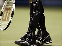Serena Williams' boots at US Open