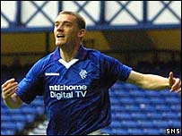 Rangers striker Tom Brighton