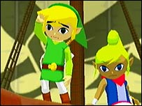 Screenshot from the Legend of Zelda: The Wind Waker
