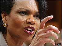 US national security adviser Condoleezza Rice