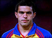 Romanian defender Cosmin Contra
