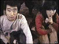 Video image of Japanese hostages