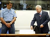 Slobodan Milosevic at The Hague