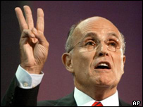 Giuliani at the Republican convention
