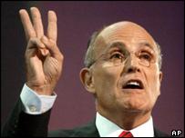 Giuliani at the Republican convention