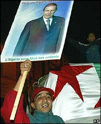 Supporter of President Abdelaziz Bouteflika