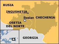 Mapa del sur de Rusia