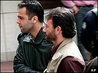 Muhammed Tokcan after being arrested