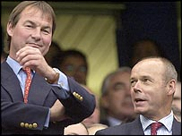 Rupert Lowe (left) and Clive Woodward