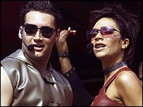 Dane Bowers with Victoria Beckham