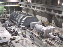 Preliminary installation of a turbo generator at Iran's Bushehr nuclear power plant