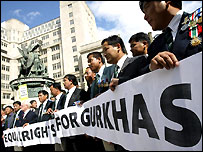 Former Gurkhas register their demand for UK citizenship in Liverpool