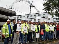 Wembley Stadium protest