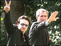 Bono and President George Bush