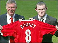 Wayne Rooney (right) and Sir Alex Ferguson