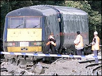 The scene of the Hatfield crash in 2000