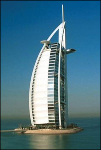 The Burj al-Arab hotel in Dubai