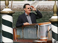 Tom Hanks arriving at the Venice Film Festival