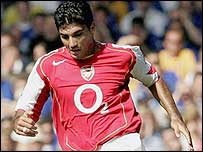 Arsenal striker Jose Antonio Reyes