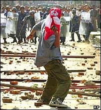 Protester in Kathmandu
